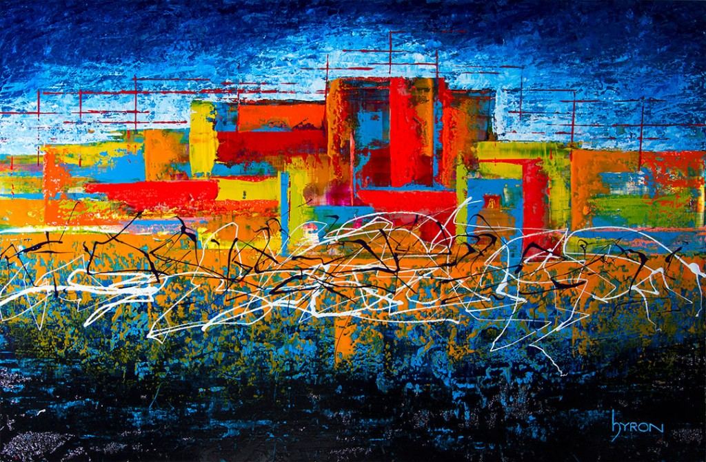 Remembering-South-Beach--36x24-mixed-media-on-stainless-steel-web