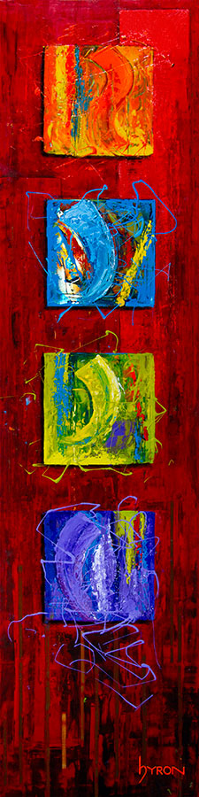 Four-Square-12x48-mixed-media-on-stainless-steel_web