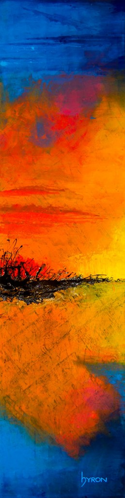 Opening-Day--12x48--mixed-media-on-stainless-steel